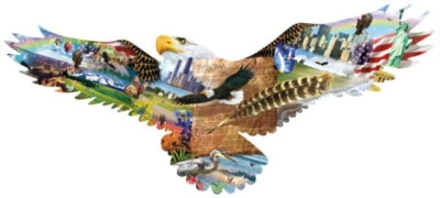 Shaped Jigsaw Puzzles - As the Eagle Flies