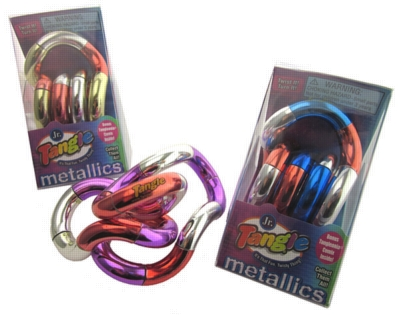 Tangle Jr. Metallic (Tri-Color) - Brain Teaser