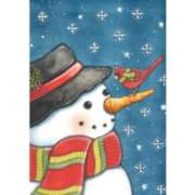 Cardinal Snowman - Standard Flag by Toland