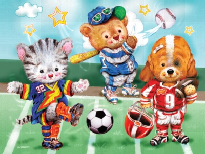 Sporty Pals - 60pc Jigsaw Puzzle by Ravensburger