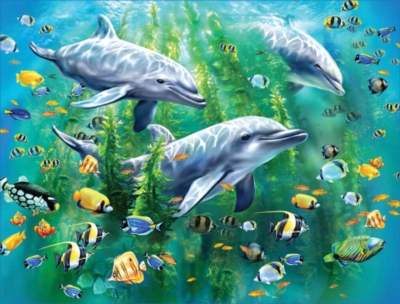 Jigsaw Puzzles for Kids - Dolphin Trio