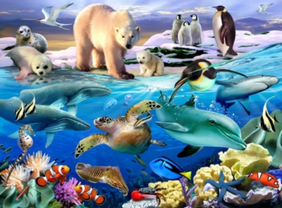 Animal Planet: - Aquatic Friends - 100pc Jigsaw Puzzle by Ravensburger