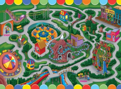Highlights: Amusement Park - 100pc Jigsaw Puzzle Maze by Ravensburger