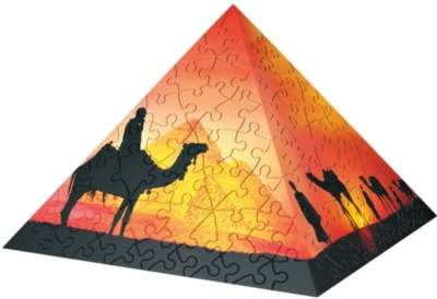Sunset in the Desert - 240pc Puzzle Pyramid by Ravensburger