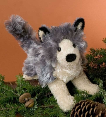 "Howl Wolf - 9"" Wolf By Douglas Cuddle Toys"