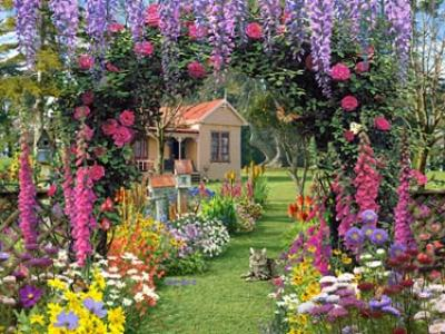 Cottage Garden - 300pc Large Format Jigsaw Puzzle by Ravensburger