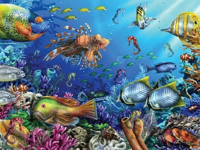 Sea-Horsing Around - 300pc Large Format Jigsaw Puzzle by Ravensburger
