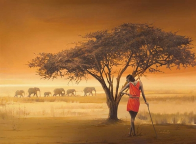 African Masai - 500pc Jigsaw Puzzle by Ravensburger
