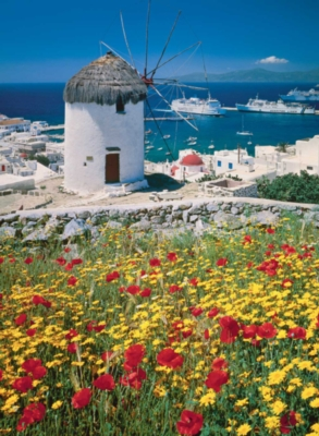 Mykonos, Greece - 500pc Jigsaw Puzzle by Ravensburger