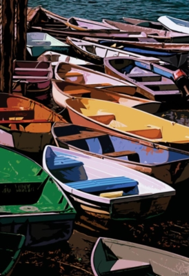 Dories of Maine - 1000pc Jigsaw Puzzle by Ravensburger