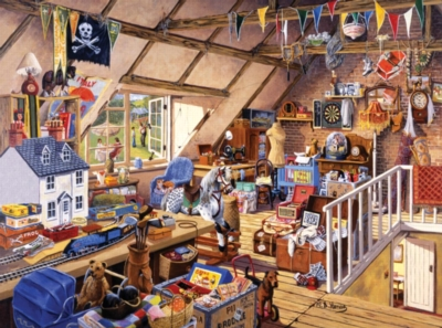 Grandma's Attic - 1000pc Jigsaw Puzzle by Ravensburger
