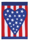 Patriotic Heart - Garden Applique Flag by Toland