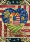 American Folk Heart - Garden Flag by Toland
