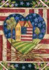 American Folk Heart - Garden Flag by Toland
