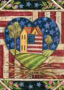 American Folk Heart - Standard Flag by Toland