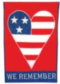 American Heart - Standard Applique Flag by Toland