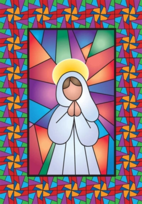 Stained Glass Angel - Standard Flag by Toland