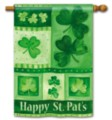 Shamrock Collage - Standard Flag by Magnet Works
