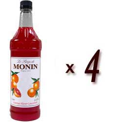 Monin Classic Flavored Syrups - 1L Plastic Bottle Assorted Case