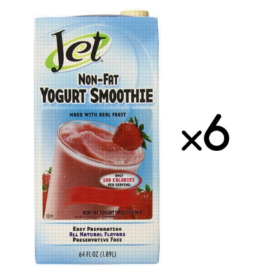 Jet NonFat Yogurt Smoothies: 64oz Carton Case