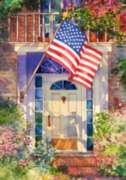 Patriotic Home - Garden Flag by Toland