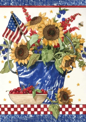 Patriotic Sunflowers - Standard Flag by Toland