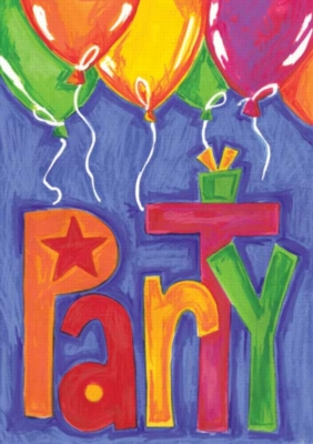 Party Balloons - Standard Flag by Toland