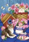 Patriotic Kitties - Garden Flag by Toland