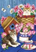 Patriotic Kitties - Garden Flag by Toland