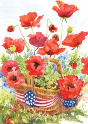 Patriotic Poppies - Garden Flag by Toland