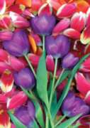 Purple Tulips - Standard Flag by Toland