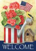 Patriotic Watering Can - Garden Flag by Toland