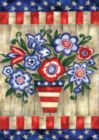Patriotic Flowers - Garden Flag by Toland