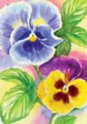 Pretty Pansies - Garden Flag by Toland
