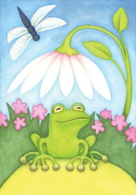 Little Green Frog - Standard Flag by Toland