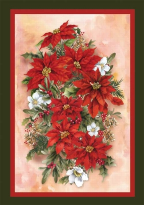 Poinsettia Spray - Standard Flag by Toland