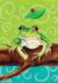 Frog on a Branch - Standard Flag by Toland