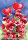 Red Pansies - Garden Flag by Toland
