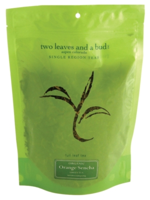 Two Leaves Tea: Organic Orange Sencha - 1/2 lb. Loose Tea in a Resealable Sleeve