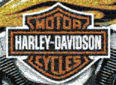 Harley-Davidson - 1000pc Photomosaic Jigsaw Puzzle by Buffalo Games