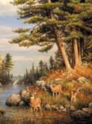 Hautman Brothers: Deer and Pines - 1000pc Jigsaw Puzzle by Buffalo Games