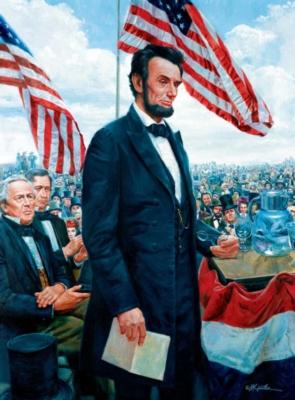 Jigsaw Puzzles - Mort Kunstler: Gettysburg Address