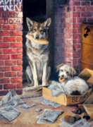 Alley Dogs - 1000pc Jigsaw Puzzle by Buffalo Games