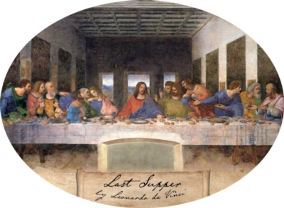 Leonardo da Vinci: Last Supper - 750pc Oval Jigsaw Puzzle by Buffalo Games