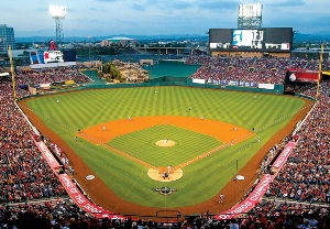 MLB Stadiums: Anaheim Angels - 500pc Jigsaw Puzzle by Great American Puzzle Factory