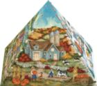 Four Seasons - 300pc 3D Pyramid Jigsaw Puzzle by Masterpieces