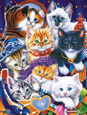 Dress Up Kittens - 300pc Large Format Jigsaw Puzzle by Masterpieces