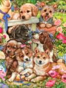 Garden Pups - 750pc Jigsaw Puzzle by Masterpieces