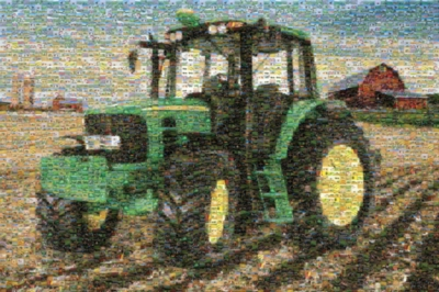 Tractor Mosiac - 1000pc Photomosaic Jigsaw Puzzle by Masterpieces