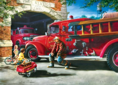 Firehouse Dreams - 1000pc Jigsaw Puzzle by Masterpieces